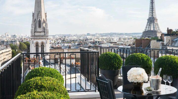 Vue sur Tour Eiffle terrasse Tour Eiffel