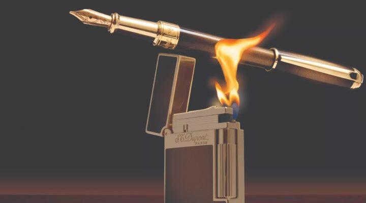 Briquet avec flamme S.T Dupont
