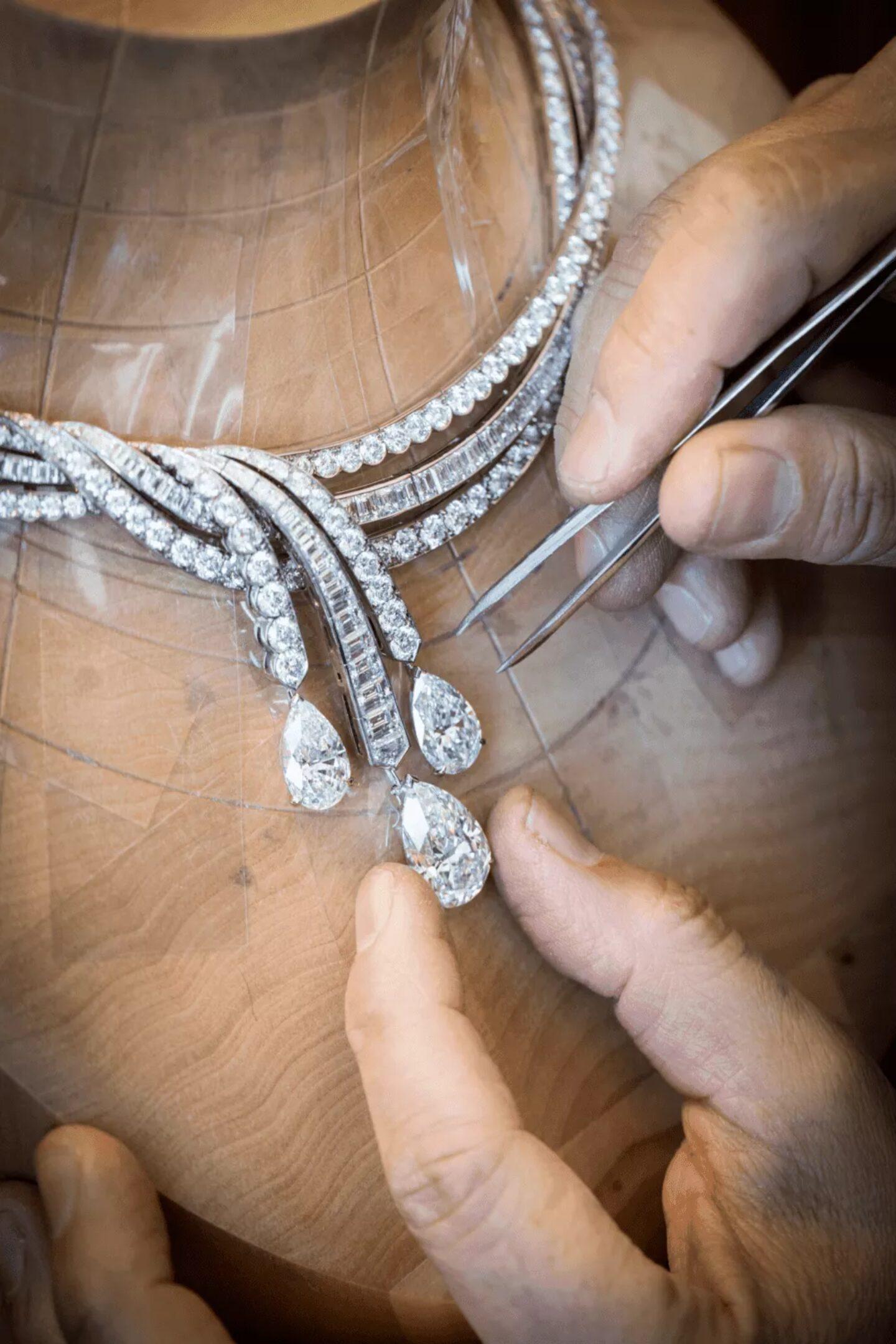 détail diamants