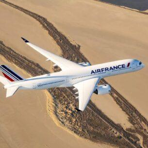 Avion Air France en vol
