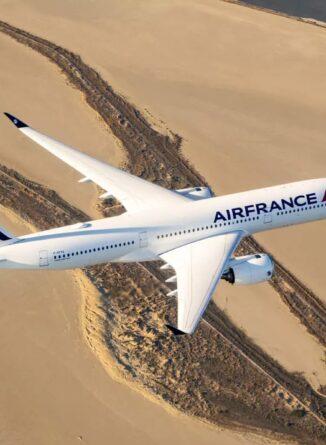 Avion Air France en plein air