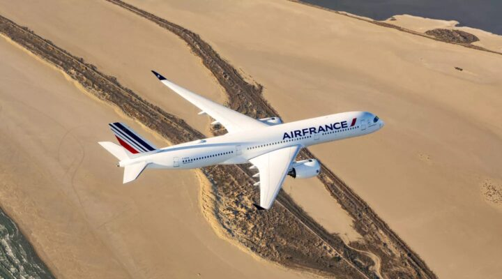 Avion Air France en vol