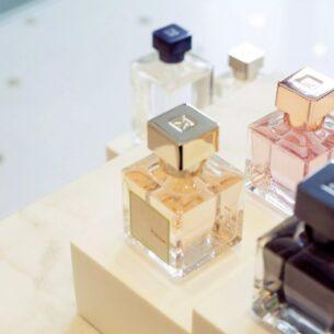 Bouteilles de parfums Françis Kurkdjian