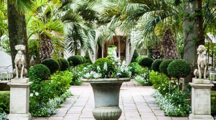 Les Près d'Eugénie jardin extérieur