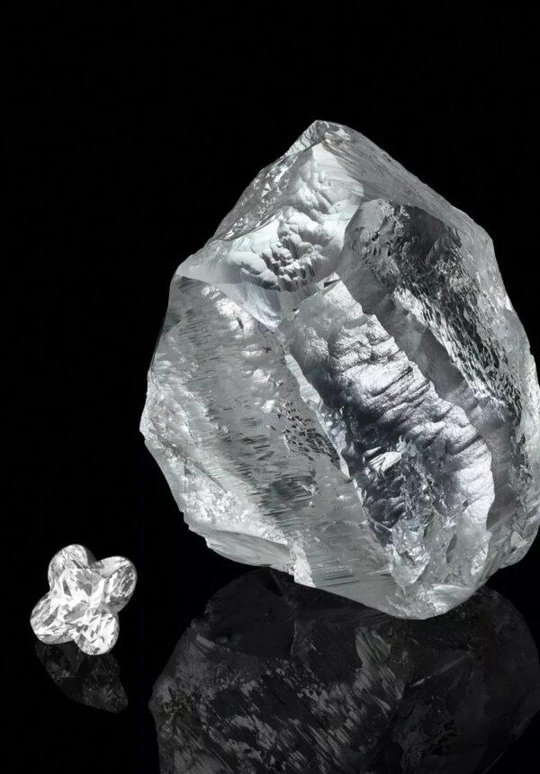 diamant sur fond noir