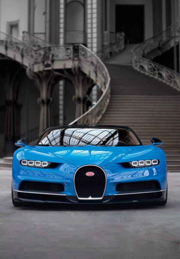 Voiture Bleue Bugatti